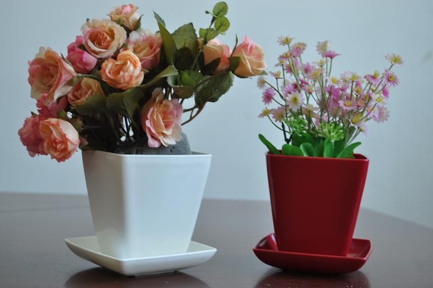 2013 Hot Sales Durable Highlight Square Flower Pots