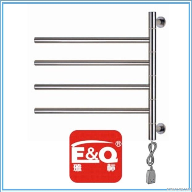 swing arm electric heated towel rail