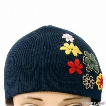 Winter knitted hat, made of cotton, various colors are available