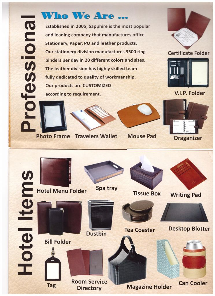 PU leather products