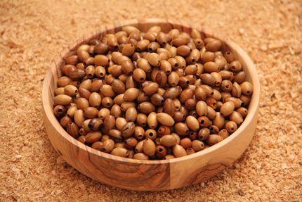 Olive Wood Oval Beads
