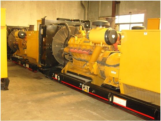 Used CAT 3412C TA diesel engine 520ekw  650kva  50HZ  1500rpm  400V