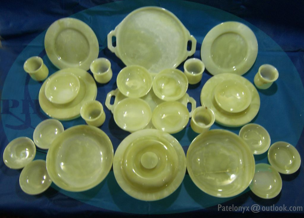 Buy Pakistani Pure Green Onyx Dinner Set Online From Patelonyx At