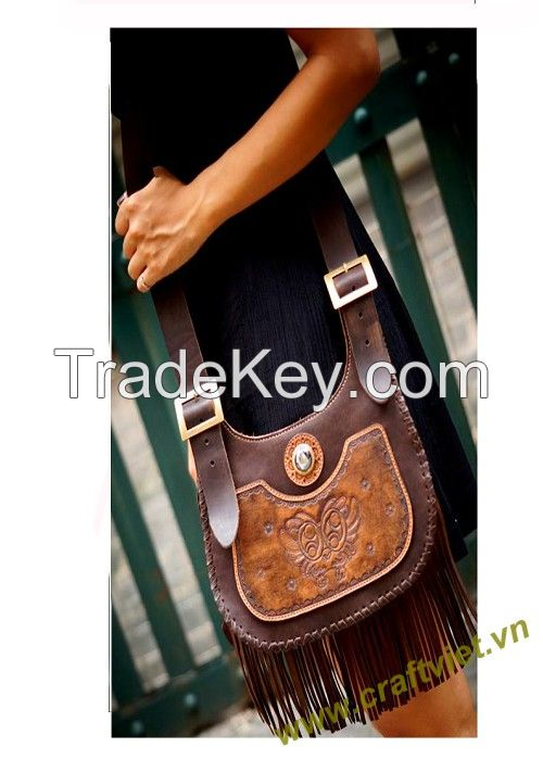 Handmade stitched leather