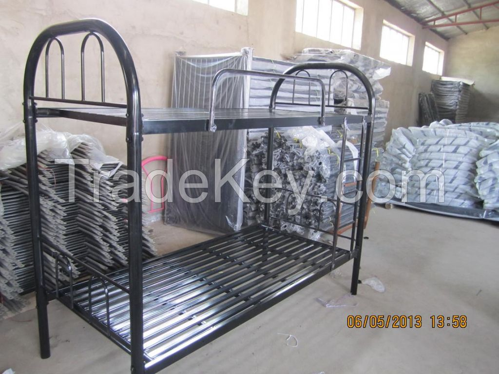 28kgs Metal Bunk Bed /Cheap Steel Metal Bunk Bed Export to Dubai Doha