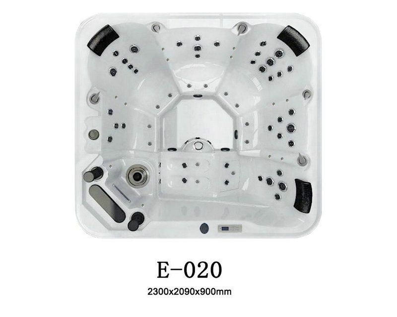 6 person spas hot tub E902 Lujia Sanitary Ware