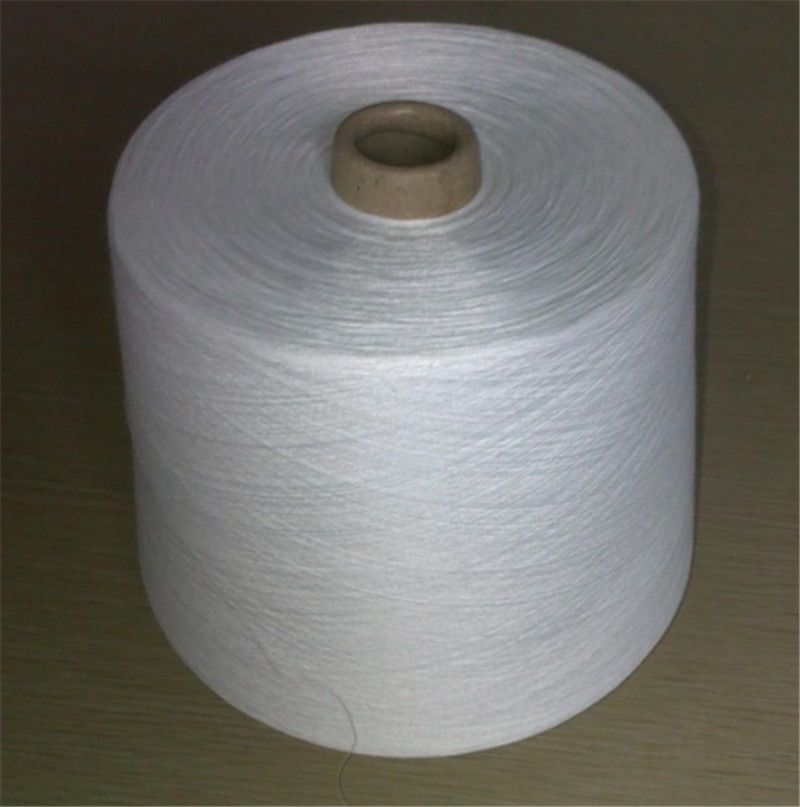 100% spun polyester yarn 80/2 raw white on paper cone from Weaver