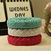 Colorful fabric lace tape for DIY and decoration
