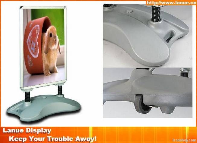 Double sided water base poster display stand