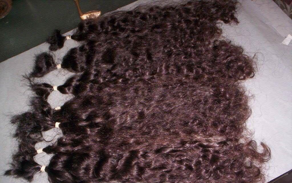 HAIR EXTENSION, NATURAL BULK HAIR