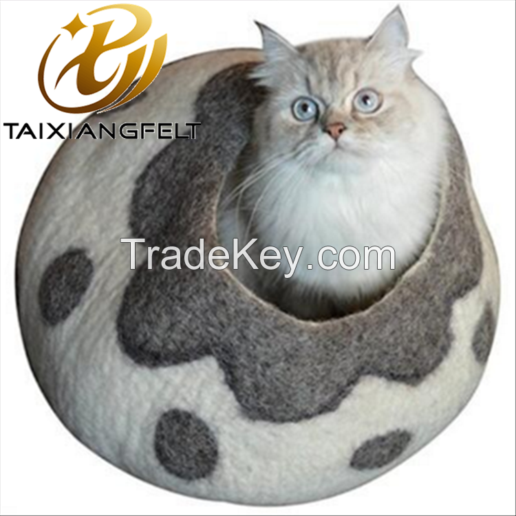 2019 new arrivals Pet Gifts Eco-friendly wool felt cat cave and house