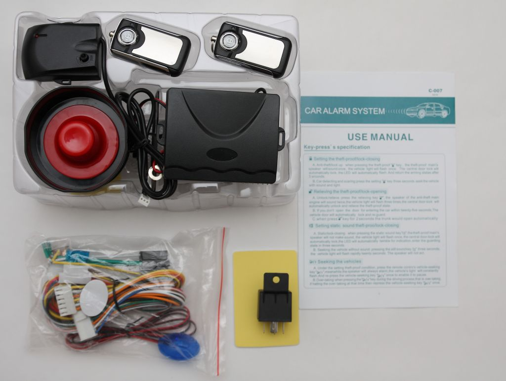 hot selling and Simple operation car alarm