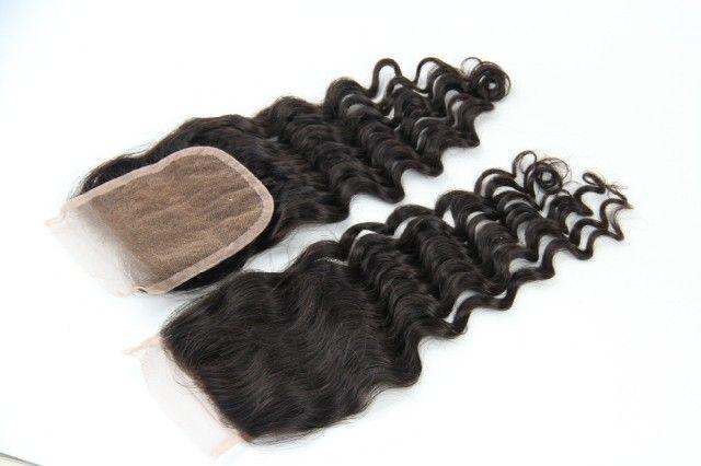 human hair top closure   lace closure and silk base closure