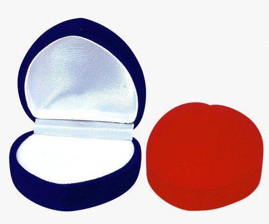 peach-shaped flocking  ring box