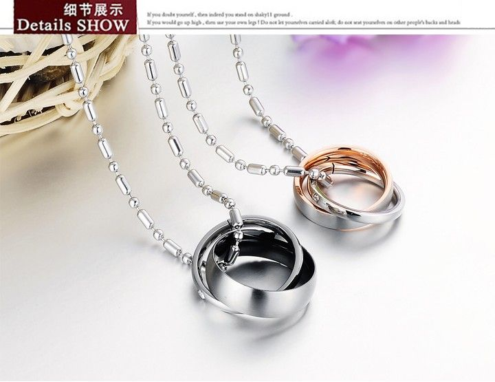 Ti steel couples necklace fashion jewelry