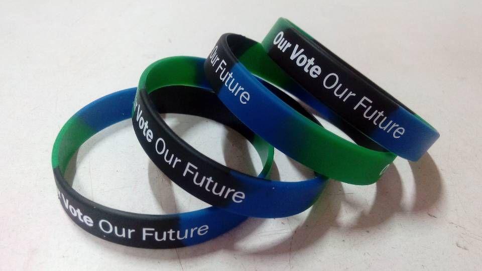 High quality custom text and logo silicone bracelets
