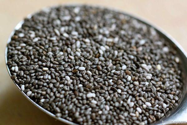 Whole black Chia seeds (Salvia Hispanica)