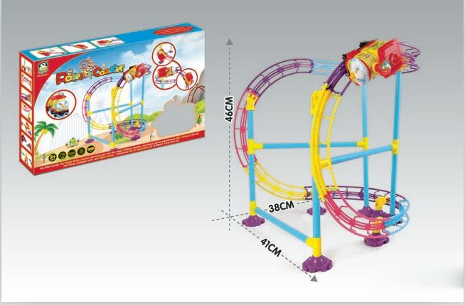 Roller Coaster with light/ B/O railway car game /Battery operated track