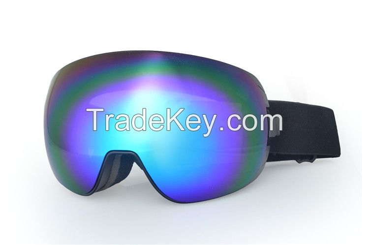 China new designed custom strap logo anti fog snowboard ski goggles