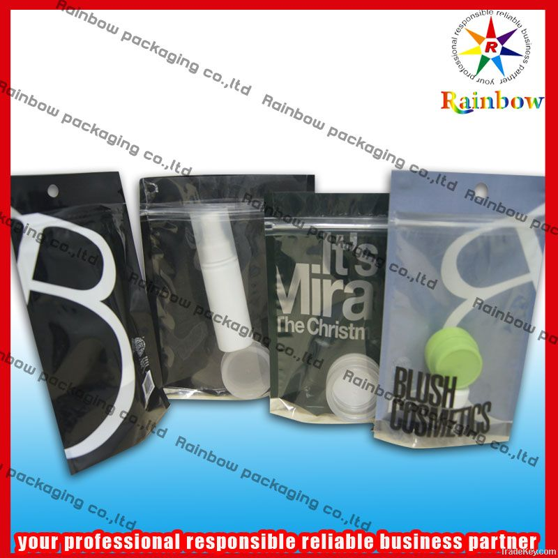 Aluminum foil ziplock bag with windows for packaging comestic