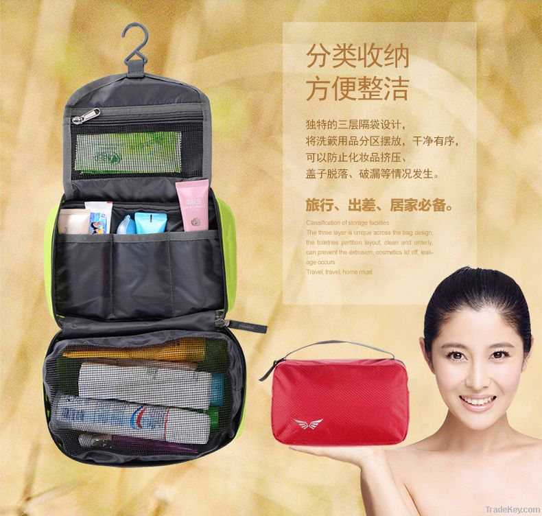 Hanging Travel Toiletry Cosmetic Bag with compartments