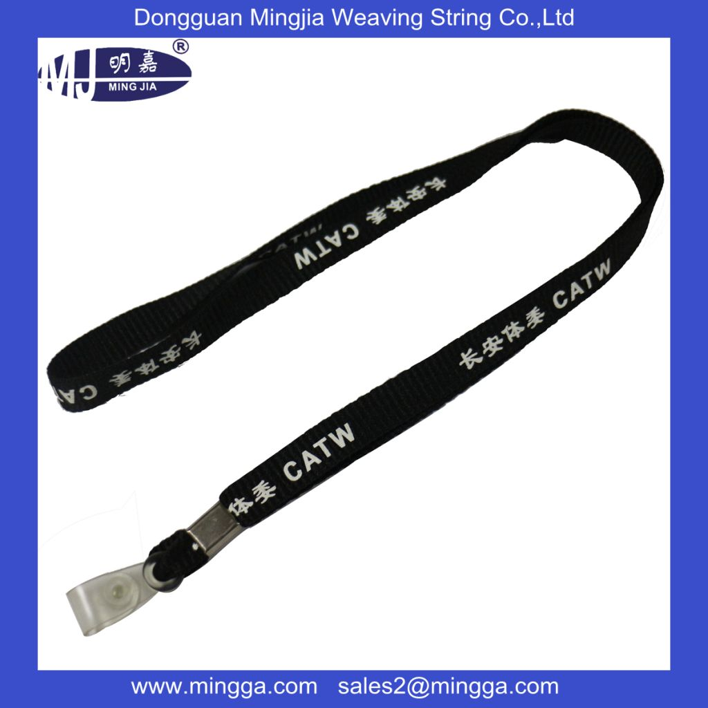 sublimation print retractable custom polyester lanyard