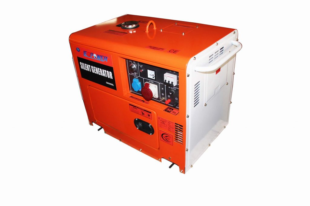 5kw Silent Diesel Generator CD6500 with CE Approved Three phase