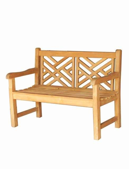 Cross Bench for outdoor made of teak wood