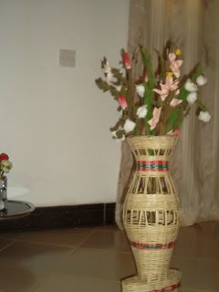 traditional pot flowers and baskets