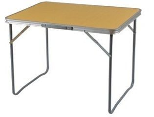 Aluminum Folding picnic camping table with MDF top