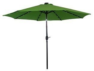 Aluminum Umbrella with Solar Light