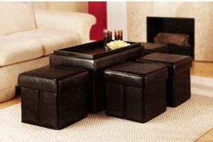 storage ottoman with tray and folding ottomans
