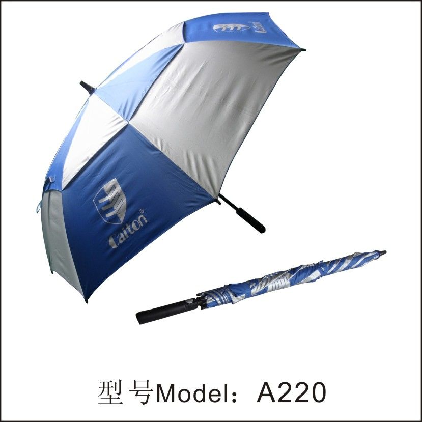e (double-deck) golf umbrella\ good quality golf umbrella A220 white and blue (double-deck) golf umbrella\ good quality golf umbrella