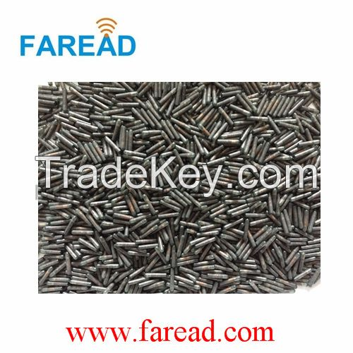 RFID glass tag animal microchip 1.4*8mm  transponder FDX-B 134.2kHz/125kHz