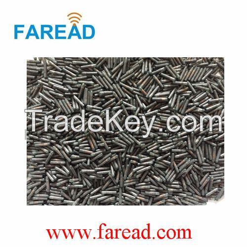 RFID glass tag animal microchip 1.4x8mm transponder FDX-B 134.2kHz/125kHz