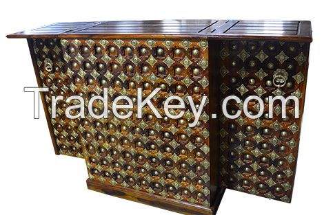 Solid wood bar counter