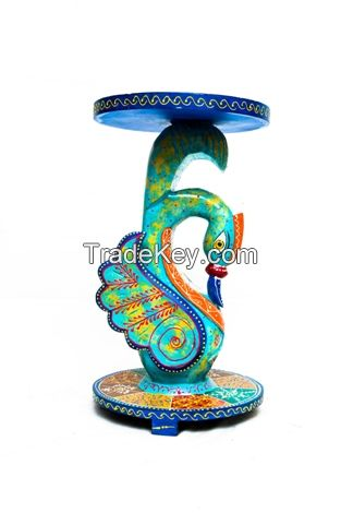 Wooden painted corner duck stool