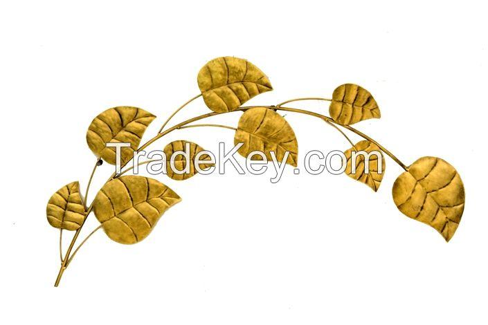 Golden leaf wall decor