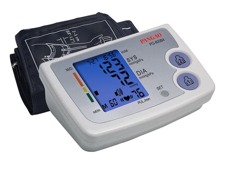 Double Type Arm Electronic Blood Pressure Monitor with Blue Back-light