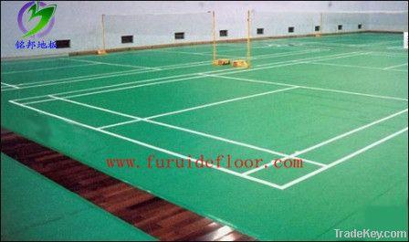 PVC sports floor for indoor badminton