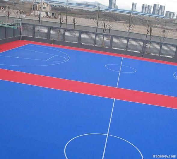 outdoor basktetball floor PPinterlock floor