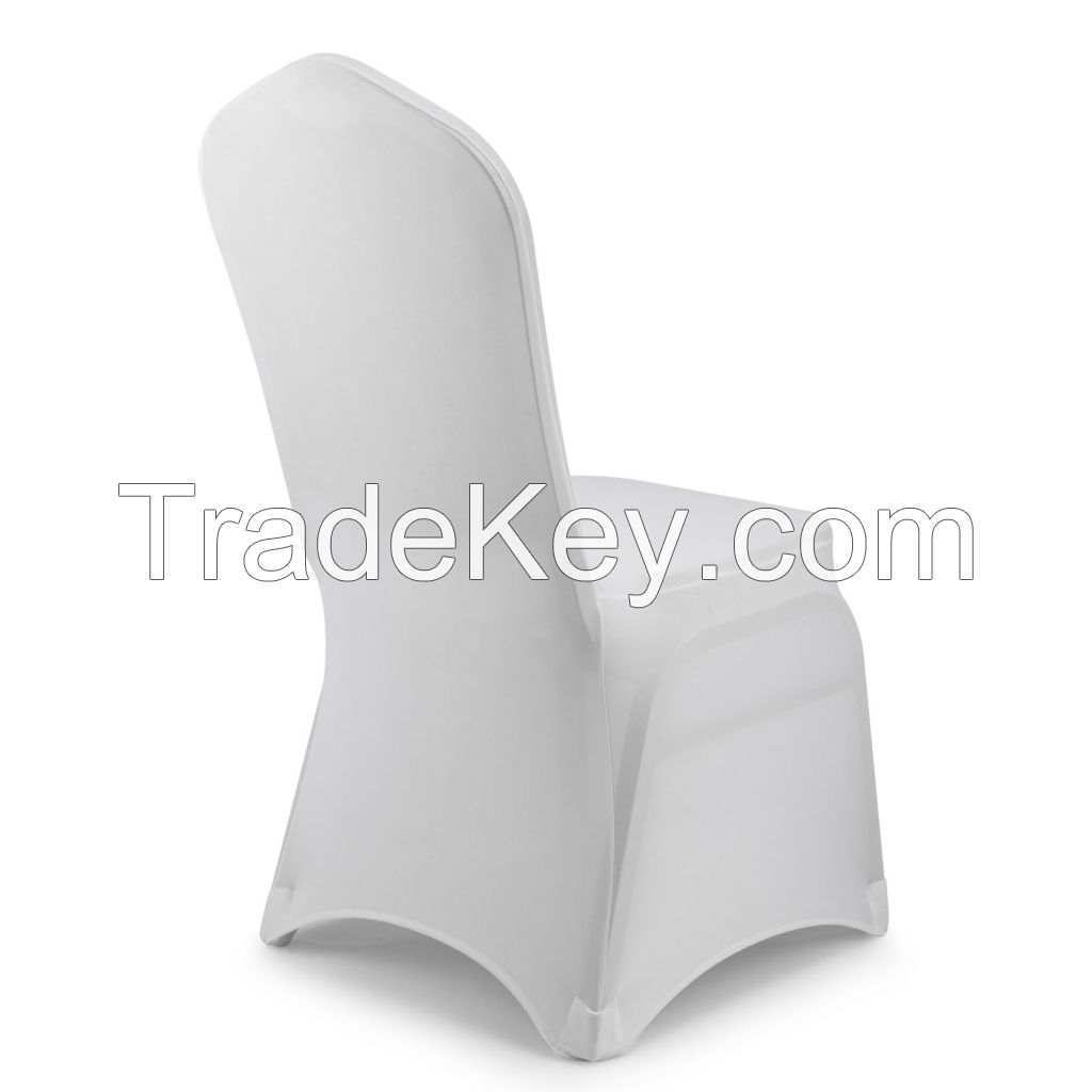 100 Lycra Spandex Stretch White Chair Cover Wedding Party Event Banquet Dining