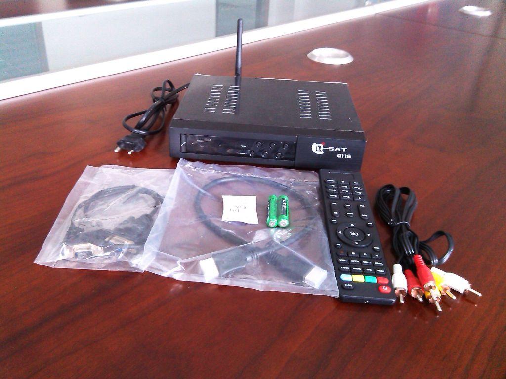 best Q-sat Q11g hd dvb-s2 satellite receiver with canalsat dish tv channels