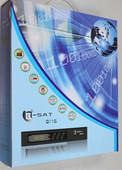 best Q-sat Q11g hd dvb-s2 satellite receiver with canalsat dish tv channels