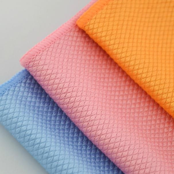 Diamonds 30*40cm Microfiber Wiper Cleaning Cloth/Car Cleaning Cloth Super Absorbant