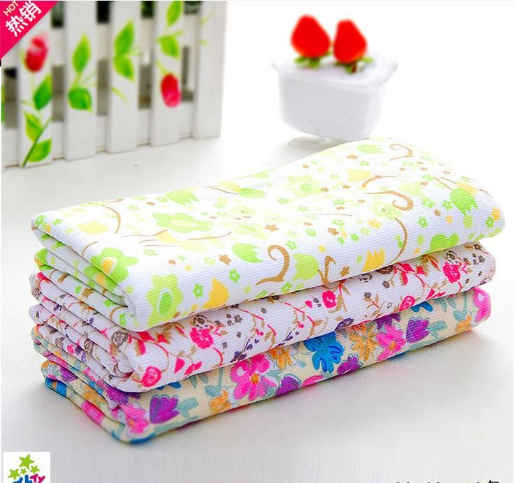 33*68cm Floral Microfiber Wiper Cleaning Cloth/Car Cleaning Cloth Super Absorbant