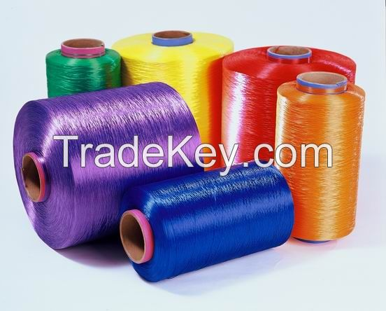100% Polyester Yarn Fdy 75D-450D Trilobal Bright Color Yarn