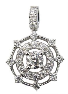 18k yellow or white gold jewellery diamond studded