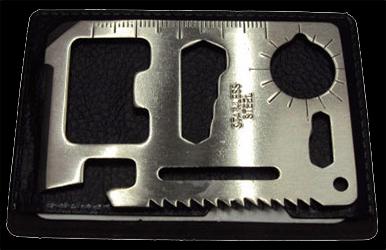 Credit Card Multi-Tool 11 in 1