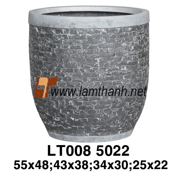 Black Tile Poly Decor Planter